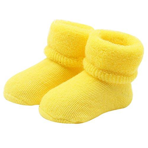 Calcetines amarillos para bebés