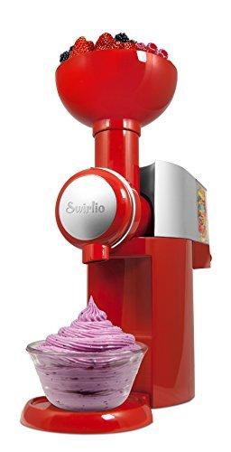 Swirlio Frozen Fruit Dessert Maker with Topping Dispenser- Red