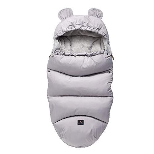 Fikujap bebé recién Nacido de empañar Manta, multifunción Cochecito Wrap Dormir de la Estera Caliente Grueso Saco de Dormir para Muchachas de los bebés de 0-12 Meses,14