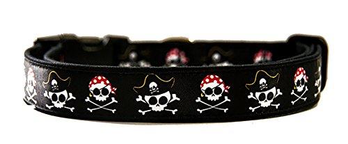 Calaveras Pirata Pirate Skulls Collar Perro Hecho A Mano Talla M Handmade Dog Collar