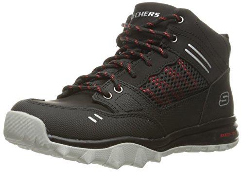 Skechers Jungen Trail Dozer Sneaker, Schwarz (Black/Red), 28 EU