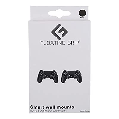 FLOATING GRIP Wall Mounts for 2x PlayStation Controllers. Color: BLACK. Storage your PlayStation Controllers on the wall right next to your TV. Produced in Europe since 2014.