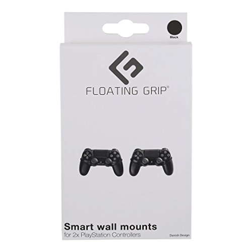 FLOATING GRIP 2x PlayStation Controller Wall Mounts (Black) - Mount your PS controllers on the wall  - coolthings.us
