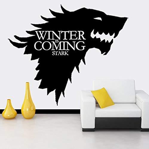 Richtiges Spiel Stark Familie Familie Logo Eis Original Wolf Wandaufkleber Wandaufkleber Wandaufkleber