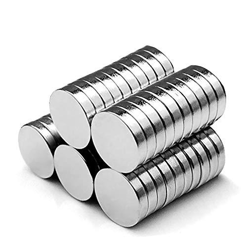 vitutech Neodym Magnete, 50 Stück Rund Magnets 8x3mm Ultra Starke Magnet Mini Magnete für Whiteboard, Pinnwand, Magnettafel