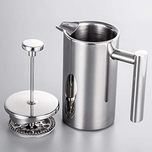 Dubbele rvs koffiepot, de pot koken methode druk warmte pers koffiezetapparaat Franse Chongcha,licht,350ml