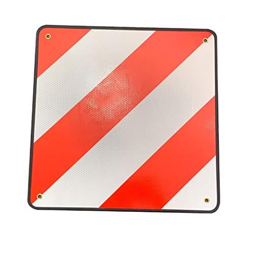 Xbeast Reflektierendes Schild für Gepäckträger und Fahrradträger 50 x 50 cm Schild Reflektierendes Schild Rot Weiß für Fahrradanhänger, Gepäckträger, Wohnmobile und Wohnwagen