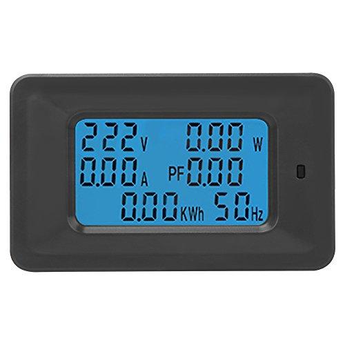 6-in-1 Hausstromzählerpanel AC 20A 110-250 V Digitalanzeige Multifunktionsstrom (Watt) Strom (Ampere) Spannung (Volt) Messgerät Tester Panel Energieverbrauch KWH Frequency Monitor
