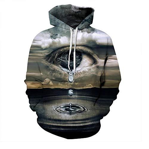 Galaxy Space Top Mit Männer Nner 3Ds Kappe Mode Sweatshirt Fashion Damen Hooded Sweats Herbst Winter Hoody Drucken Star Whirlpool (Color : QYDM133, Size : L)