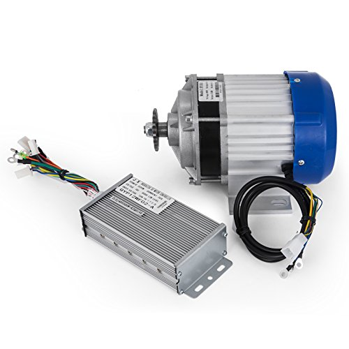 Mophorn Elektromotor 48V 500W DC Motor 600U Nenndrehzahl Brushless Motor mit Controller Geeignet für DIY Dreirad E-Bikes Elektroroller (48V500W)