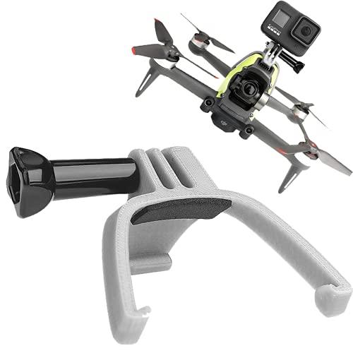 Prodrocam Supporto di estensione superiore per DJI FPV Drone Supporto di montaggio con interfaccia Go-Pro per fotocamera Panoramica per GoPro Hero 9 8 ecc (supporto di estensione)