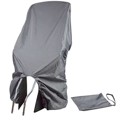 TROCKOLINO Regenschutz - wasserdichte Abdeckung für Fahrradkindersitz - Kindersitz Fahrrad hinten - gegen Schmutz und Nässe, grau