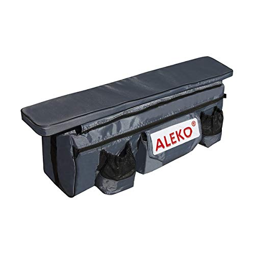 ALEKO BSB380DGV1 Seat Cushion with Under Seat Bag with Pockets for 12 or 13 Foot...