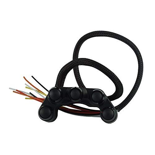SHENLIJUAN 7/8' 22mm Manillar de la Motocicleta 5 Botón Interruptores Interruptor de la bocina Niebla de la Linterna Luces de Emergencia del Freno botón ON-Off