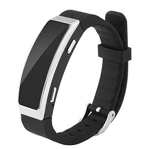 Lazmin Voice Recorder-Armband für Vorträge, 8 GB Speicher, 192 Kbit/s, MP3 Smart Noise Cancelling, Zeitstempel für Sprachaufzeichnung