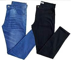 Kit com 2 Calças Jeans Sarja Masculinas