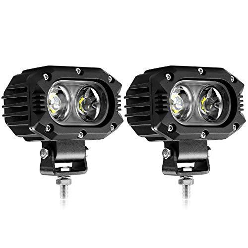 LED Arbeitsscheinwerfer, 48Wx2 4 zoll Flutlicht LED Offroad Zusatzscheinwerfer Arbeitslicht Worklight IP67 12V 24V für Trecker KFZ Bagger SUV, UTV, ATV, CO LIGHT(914Z-F-2pcs)