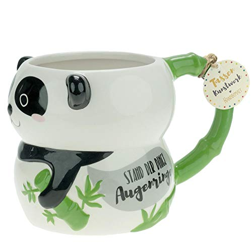 Die Geschenkewelt 46341 Tasse Figur Panda, Dolomite, 50 cl, mit Geschenkanhänger
