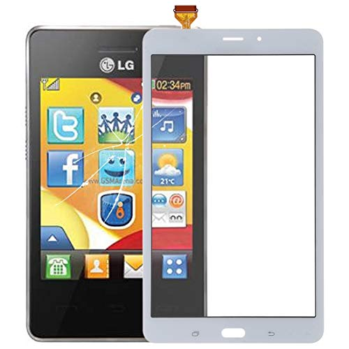 un known Touch Panel for Galaxy Tab A 8.0 / T385 (4G Version) Accessory Replace Old Failure Continue to Use (Color : White)