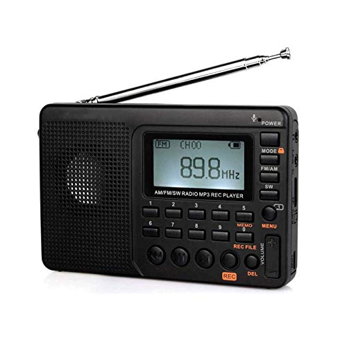 Bdesign Mains and Battery Powered Portable DAB Radios Rechargeable Digital Radio with USB Charging for 15 Hours Playback (Black)