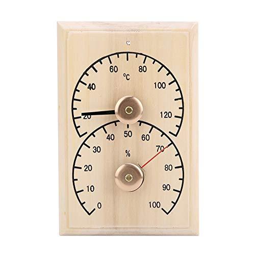 Ponacat Saunaraum Hygrometer Holz Sauna Hygrothermograph Thermometer Hygrometer Saunaraum Zubehör