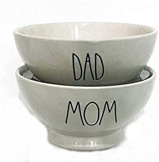 Rae Dunn By Magenta MOM & DAD Bowl Set | Great Gift for any Occasion!