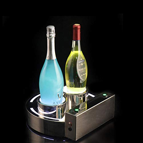 Glowing wine seat spades A champagne champagne wine base wine rack LED laser wine tray can be used for private party villa KTV bar hotel-Big eyes wine seat with laser