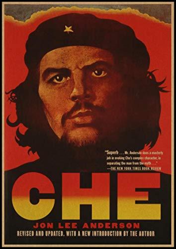 shuimanjinshan Póster Che Guevara Carteles de Pintura en Lienzo e Impresiones Imagen de Arte de Pared para la decoración del hogar de la Sala de Estar(JQ-1937) 40x50cm Sin Marco