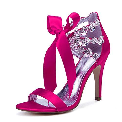LGYKUMEG Zapatos Nupciales, Zapatos de Boda de Las Mujeres de Bombea los...