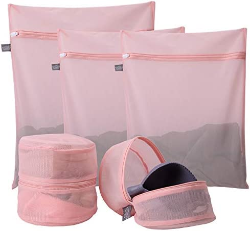 Kimmama Delicates Laundry Bags Bra Fine Mesh Wash Bag for Underwear Lingerie Bra Pantyhose Sock product image
