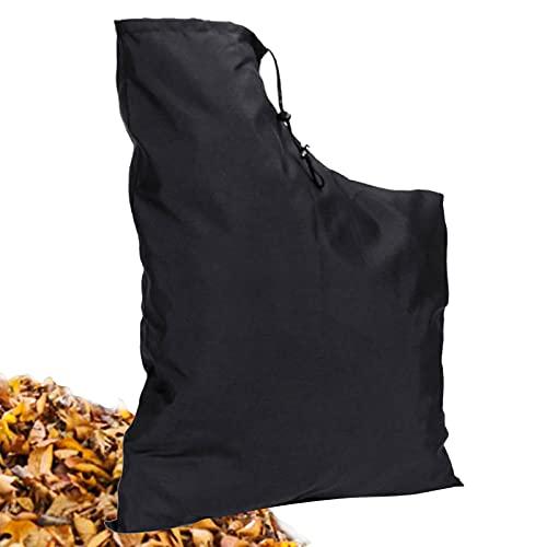 Lrxinki Bolsa de recogida para soplador de hojas de poliéster, con cremallera y cordón, compatible con la mayoría de sopladores de hojas