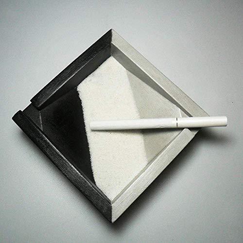 BXU-BG Cenicero para cenicero interior con tapa cenicero simple creativo de cemento cenicero de hotel