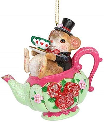 Gisela Graham : Dormouse in a Teacup Decoration