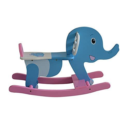 FZJDX Baby Indoor Holz Schaukelpferd Kinder Fahrt auf Spielzeug Schaukelwagen Spielzeug Schaukelstuhl Geburtstagsgeschenke für Jungen und Mädchen