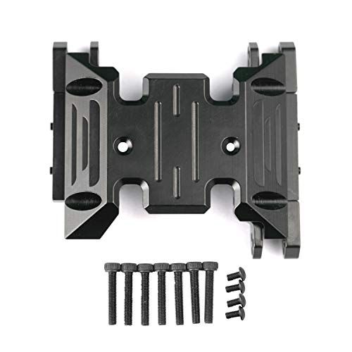 RZXYL Transmission Protection Aluminum Centre Skid Plate for 1:10 Axial SCX10 III AXI03007 RC Crawler Car (Black)