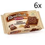 6x Balocco Fibra e Gusto Cereali kekse mit Getreide und Schokolade 350g biscuits