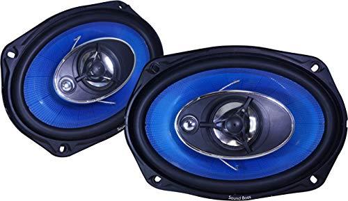 Sound Boss Rear 6X9 INCH Oval 3-Way Performance Auditor 480W MAX SB-B6901 Coaxial Car Speaker