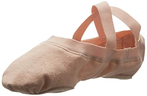 Bloch Dance Women's Synchrony Split Sole Stretch Canvas Ballet Slipper/Shoe, Pink, 6.5 Narrow
