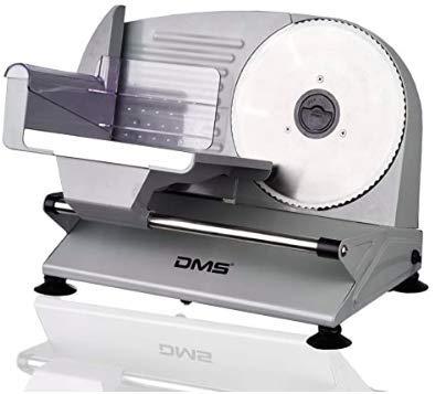 DMS Allesschneider aus Metall | Brotschneidemaschine | Wurst- und Fleischschneider | Aufschnittmaschine | Spezialschneideklinge aus rostfreiem Edelstahl | 400 Watt