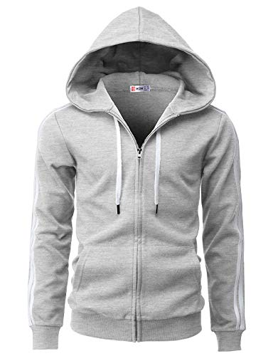 H2H Mens Fashion Slim Fit Hoodie Ja…