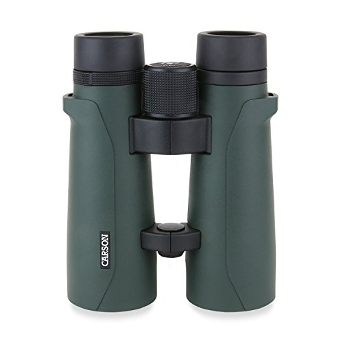 Carson RD-050 10x50mm RD Series Full Sized Open-Bridge Waterproof High Definition Binoculars, green/black
