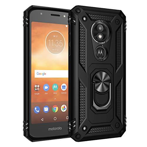 BestST Motorola Moto E5 Play Hülle 360 Grad Handyhülle Bumper Hülle Robust Cover [Ultra Hybrid Schutzhülle ]+ Bildschirmschutz für Motorola Moto E5 Play Schwarz