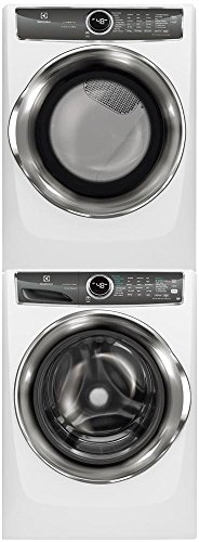 Electrolux White Front Load Laundry Pair with EFLS627UIW 27' Washer, EFMG627UIW 27' Gas Dryer and STACKIT7X Stacking Kit