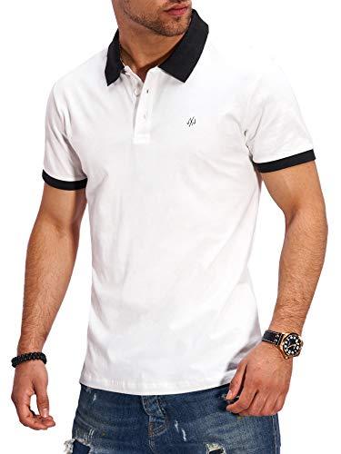JACK & JONES Herren Poloshirt Polohemd Kurzarmshirt Shirt Top Business Hemd (XXL, Cloud Dancer)
