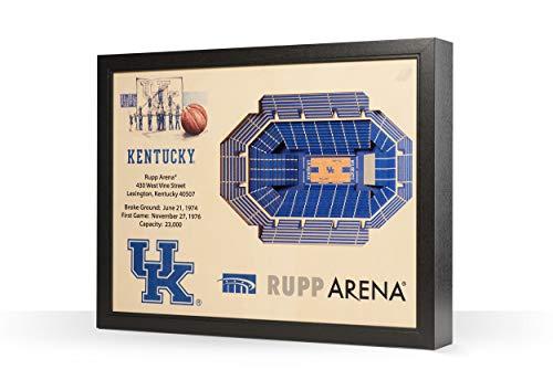 NCAA Kentucky Wildcats 25-Layer Stadiumviews 3D Wall Art