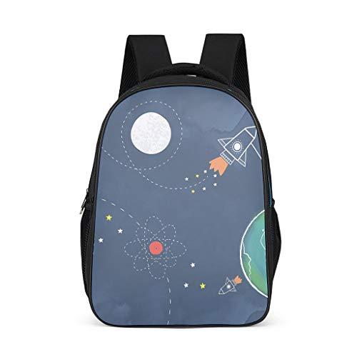 Backpack among us space Pattern Bookbag Waterproof Daypack Laptop Bag for Men Women bright gray onesize