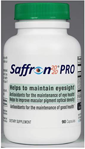 Saffron 2020-PRO Saffron Eye Health Supplement Provides Macular pigments, and Helps Maintain Eyesight.