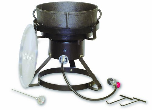 King Kooker 1720 17-1/2-Inch Outdoor Cooker with 5 Gallon Cast Iron Jambalaya Pot Package