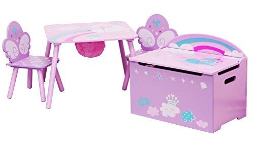 IB-Style - Kindersitzgruppe UNICORN - Stuhl Truhenbank Tisch | 3 Kombinationen | 2x Kinderstuhl 1x Kindertisch 1x Truhenbank/Spielzeugkiste