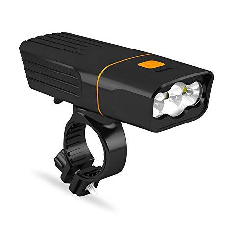 SAHWIN Luz Bicicleta Led Alta Potencia 1000 Lúmenes, Luces Bicicleta Recargable USB Delantera con Pantalla, Luz Bici De Montaña 3 Modes Y Luz Bici Trasera